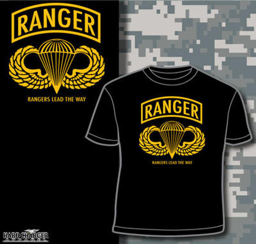 Us Army Ranger T Shirt Hard Charger Apparel