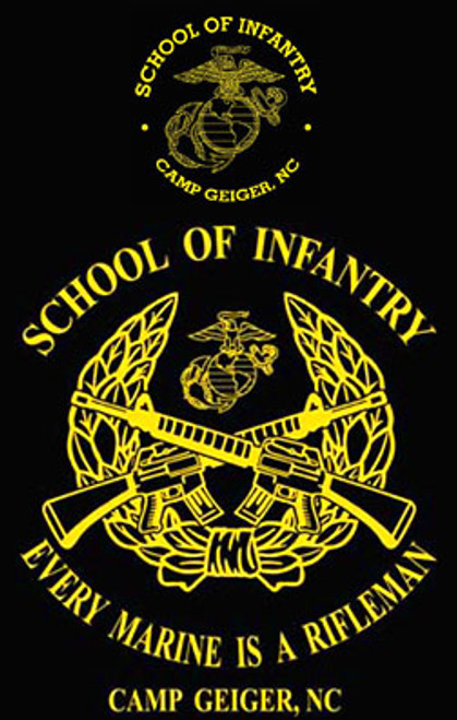 School of Infantry, Camp Geiger, NC T-shirt