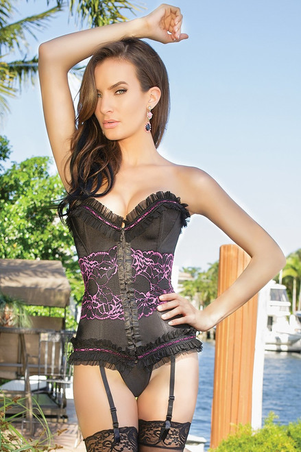 Kiss You Off Lycra & Powernet Corset