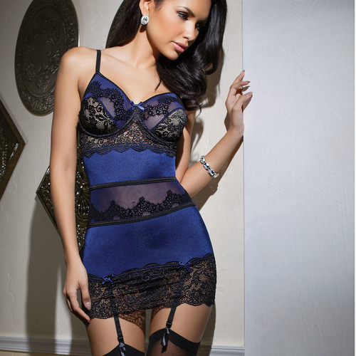 Dark Desires Stretch Lace Chemise | Stunning Lingerie Online