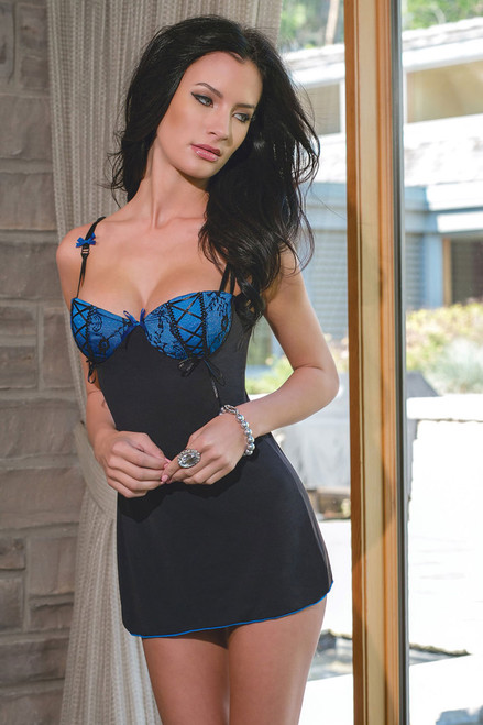 Bluejay Microfibre Chemise with Padded Underwire Cups | Stunning Lingerie
