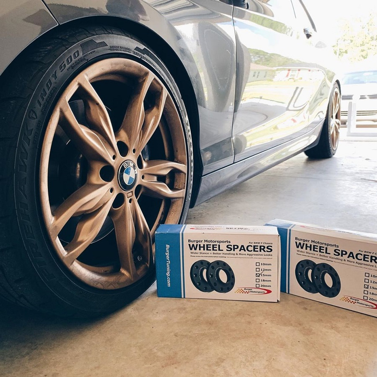 E Chassis Only 15mm BMW Wheel Spacers by BMS w//extended Bolts 128 135 328 330 335 335 525 528 530 535 1M M3 and more E Chassis Only