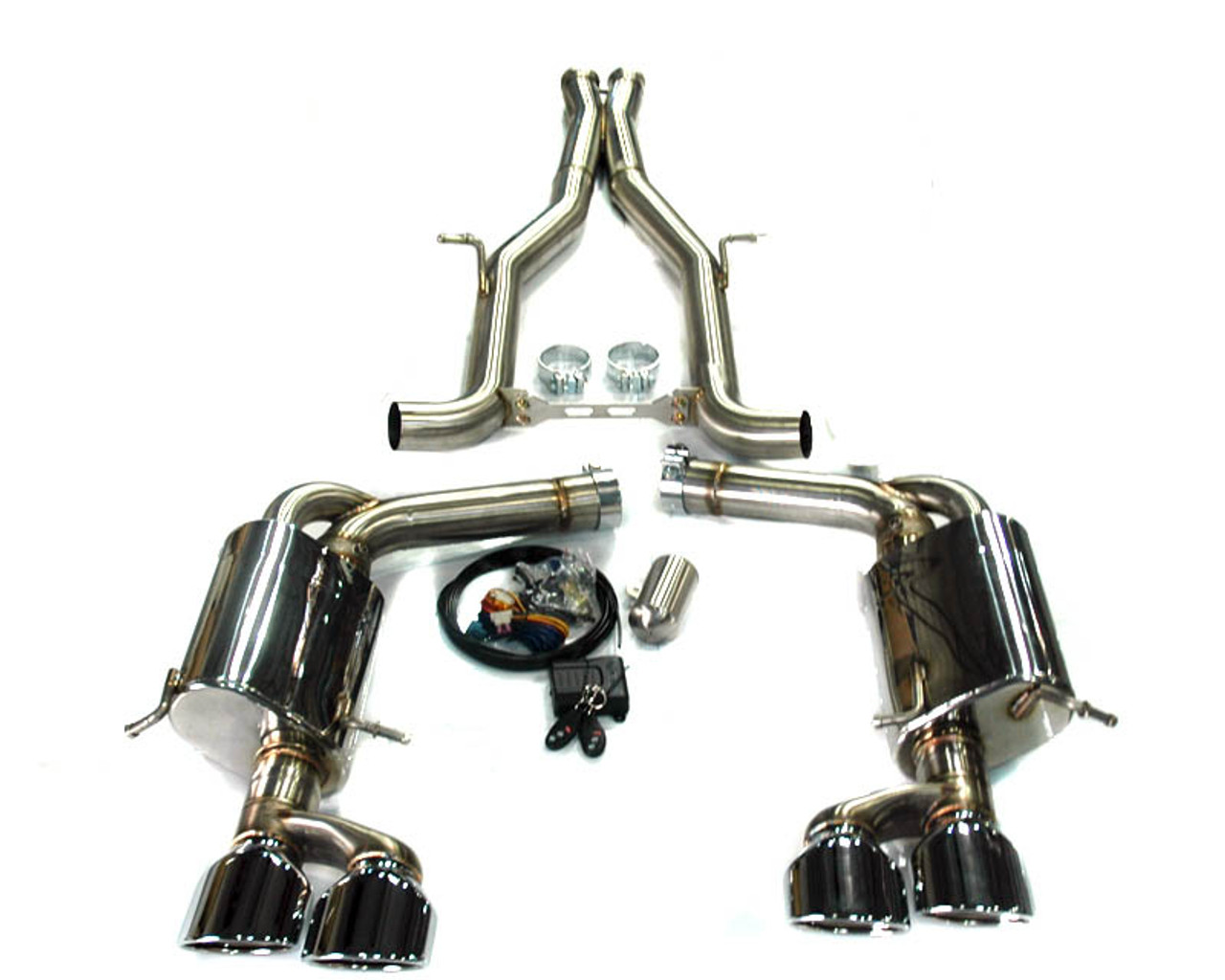 AGENCY POWER ELECTRONIC VALVE CONTROLLED EXHAUST MUFFLER MERCEDES-BENZ C63  AMG 12-14 [AP-C63 2-170]
