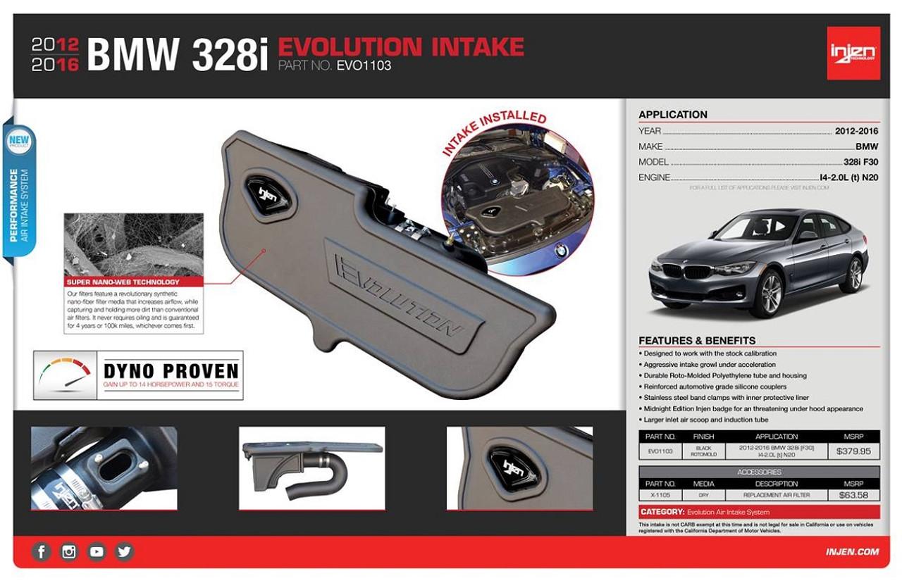 Injen BMW N20 228/328/428 Evolution Air Intake System