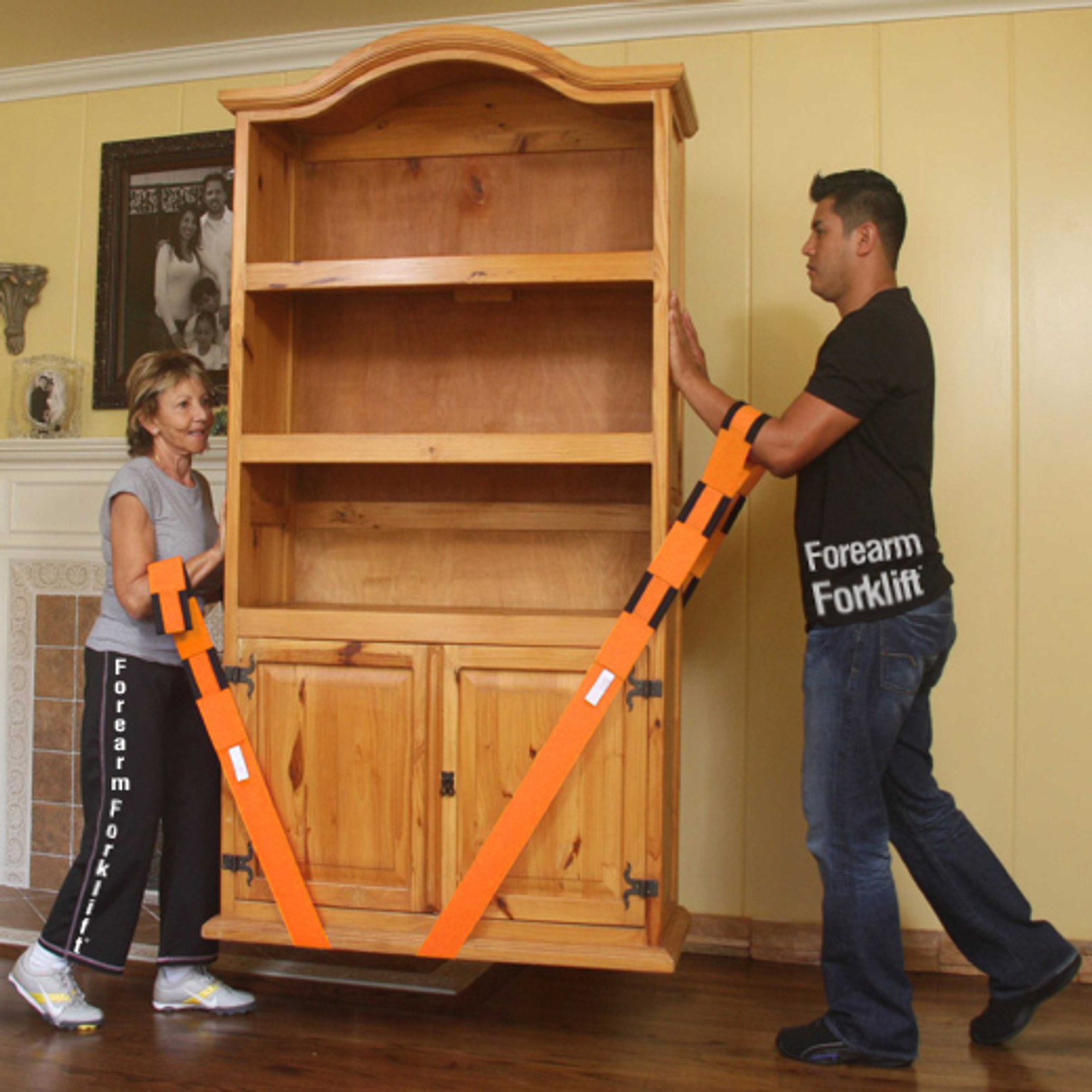 Forearm Foklift Lifting Straps Orange