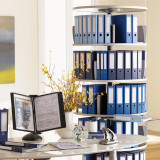 Moll Deluxe Binder & File Carousel, 6-Tier Shelving, Stylized Photo