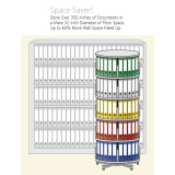 Moll Deluxe Binder & File Carousel, 4-Tier Shelving, Space Saving