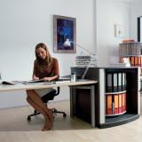 Moll LockFile Binder & File Carousel Cabinet, 2-Tier, Stylized Photo