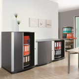 Moll LockFile Binder & File Carousel Cabinet, 2-Tier, Stylized Photo 3