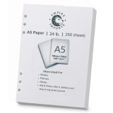 Empire Imports 6-Hole Punched Paper, A5 Size, 1 Ream, 250 Sheets, Product Photo