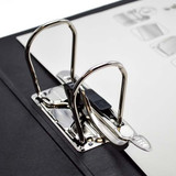 """Leitz 2-Ring Binder for A3 Sized Paper, 3"""" Spine, European Ring Spacing, Rings Close Up"""
