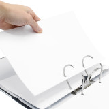 "Leitz 1015 Deluxe 2-Ring Binder, A4 Size, 2"" Spine, European Ring Spacing, Stack of Paper"