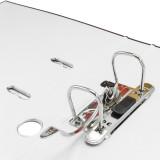 "Leitz R50 Black Marbled 2-Ring Binder, A4 Size, 2"" Spine, European Ring Spacing, Rings"
