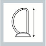 """Leitz R25 Black Marbled 2-Ring Binder, A4 Size, 1"""" Spine, European Ring Spacing, Binder Rings"""