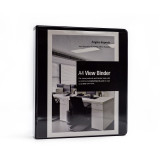 "Empire Imports 4-Ring Vinyl View Binder, A4 Size, 1.25"" Spine, Product Photo"