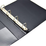 """Empire Imports 4-Ring Vinyl View Binder, A4 Size, 1.25"""" Spine, Rings Photo"""