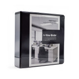 "Empire Imports 4-Ring Vinyl View Binder, A4 Size, 2"" Spine, European Ring Spacing, Product Photo"