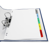 Quick Print A4 Customizable Index Tabs, 5 Tabs, Tabs in 2 Ring Binder