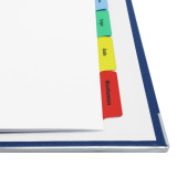 Quick Print A4 Customizable Index Tabs, 5 Tabs, Details photo