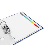 Quick Print A4 Customizable Index Tabs, 10 Tabs, 2 Banks, 2 Ring Binder with Tabs