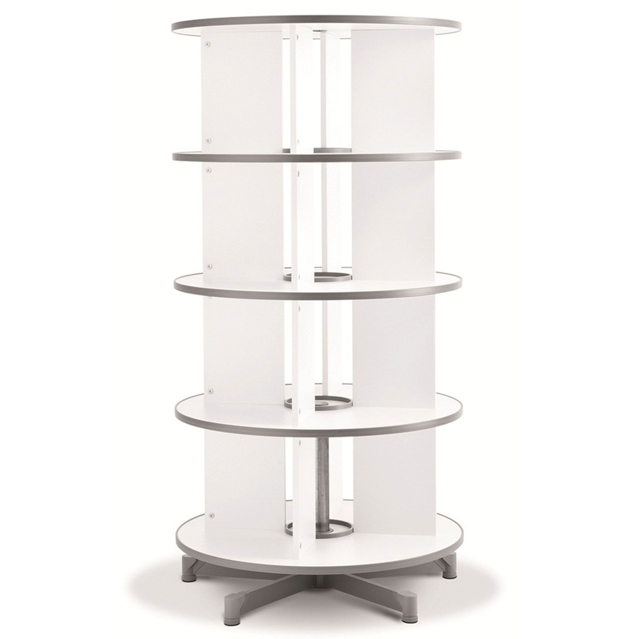 Moll One Turn Binder & File Carousel, 4-Tier Shelving