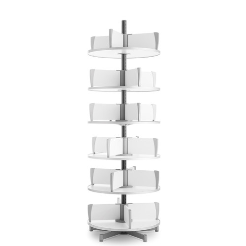 Moll Deluxe Binder & File Carousel, 6-Tier Shelving, Product Photo