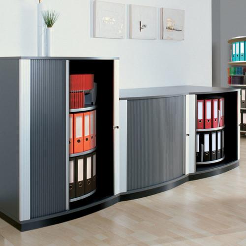 Moll LockFile Binder & File Carousel Cabinet, 3-Tier, Stylized Photo