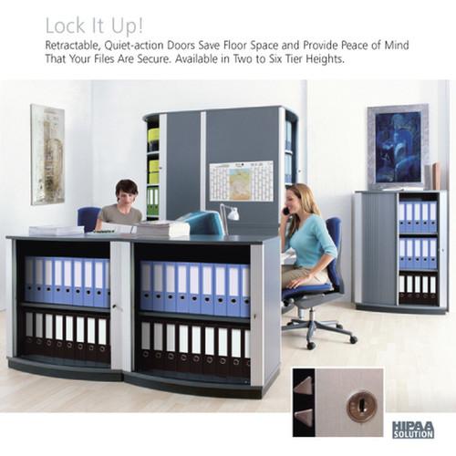 Moll LockFile Binder & File Carousel Cabinet, 3-Tier, Stylized Photo 2