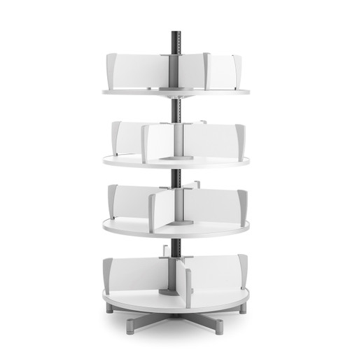 Moll Deluxe Binder & File Carousel, 4-Tier Shelving, Product Photo