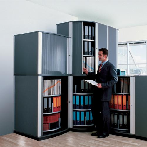 Moll LockFile Binder & File Carousel Cabinet, 4-Tier, Stylized Photo