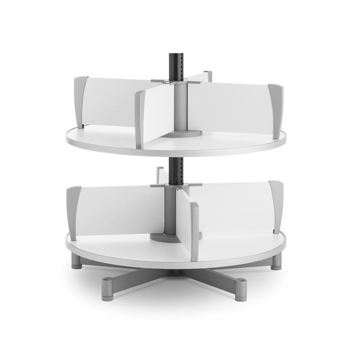 Moll Deluxe Binder & File Carousel, 2-Tier Shelving, Product Photo