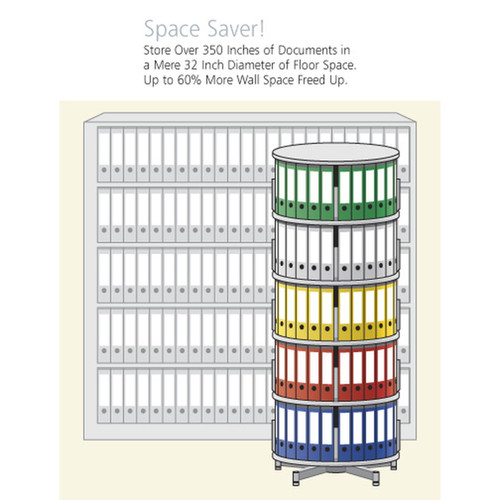 Moll Deluxe Binder & File Carousel, 2-Tier Shelving, Space Saving