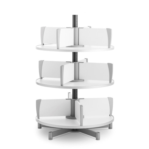 Moll Deluxe Binder & File Carousel, 3-Tier Shelving, Product Photo