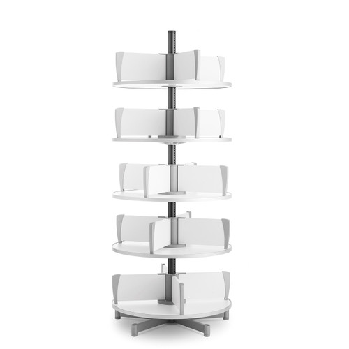 Moll Deluxe Binder & File Carousel, 5-Tier Shelving, Product Photo