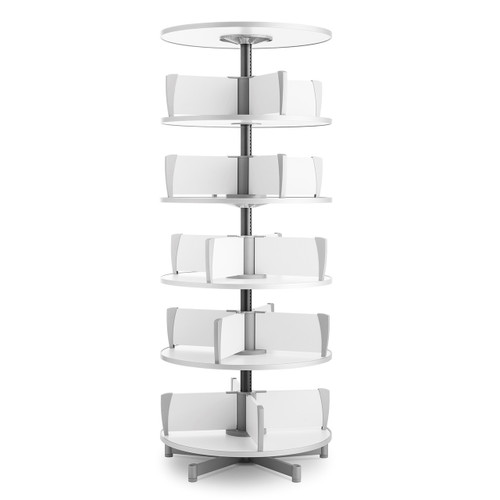Moll Deluxe Binder & File Carousel, 5-Tier Shelving, Product Photo with Added Top