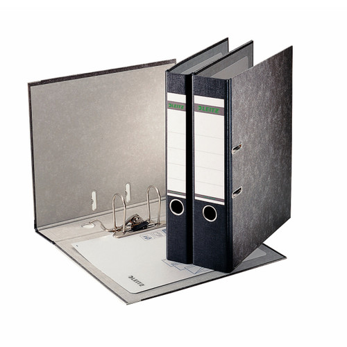 """Leitz R80 Black Marbled 2-Ring Binder, A4 Size, 3"""" Spine, European Ring Spacing, Product Photo 2"""