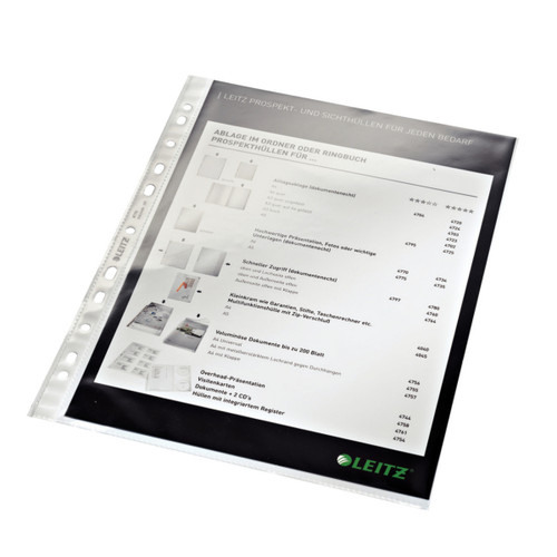 Leitz Heavyweight A4 Sheet Protectors, Product Shot