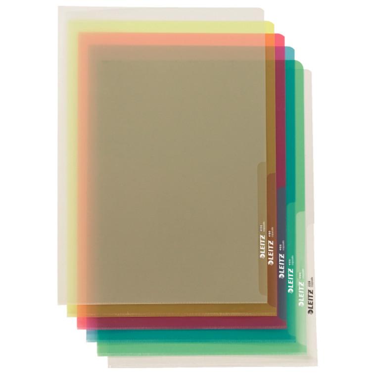 Leitz Plastic Project Folders, Multi Color