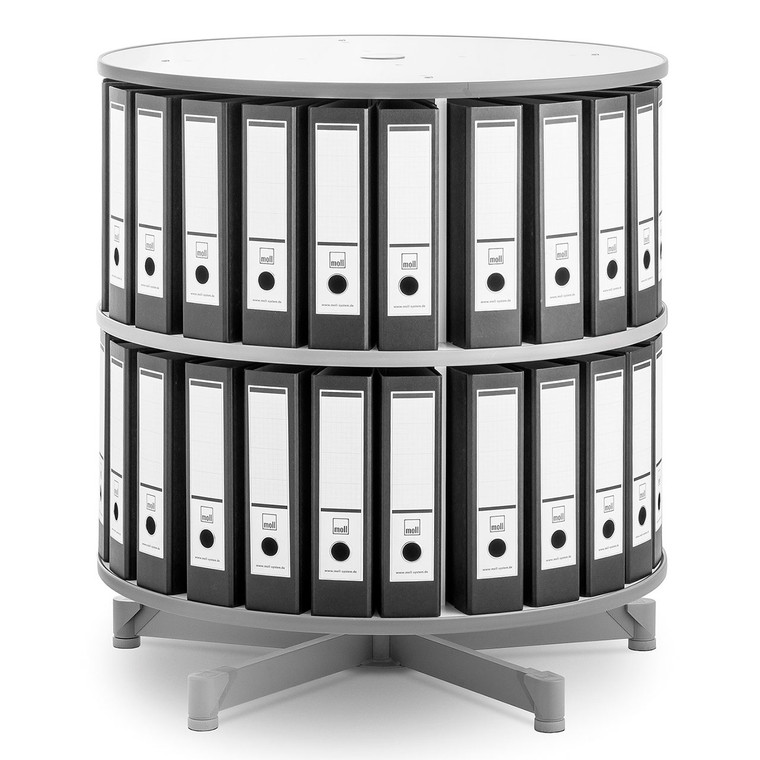 Moll One Turn Binder & File Carousel, 2-Tier Shelving with Binders
