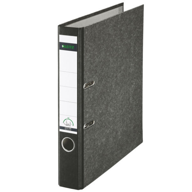 """Leitz R50 Black Marbled 2-Ring Binder, A4 Size, 2"""" Spine, European Ring Spacing, Product Photo"""