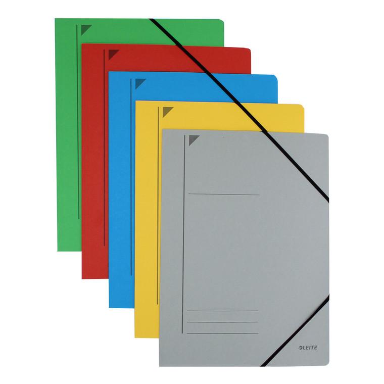 Leitz Corner Strap Folders, Multi Color
