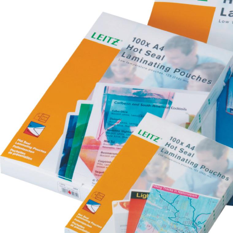 Leitz A4 Laminating Pouches, Product Photo