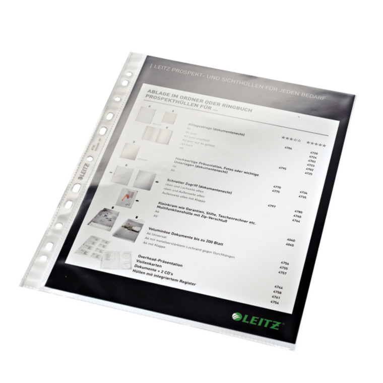 Leitz Heavyweight A4 Sheet Protectors, Product Shot