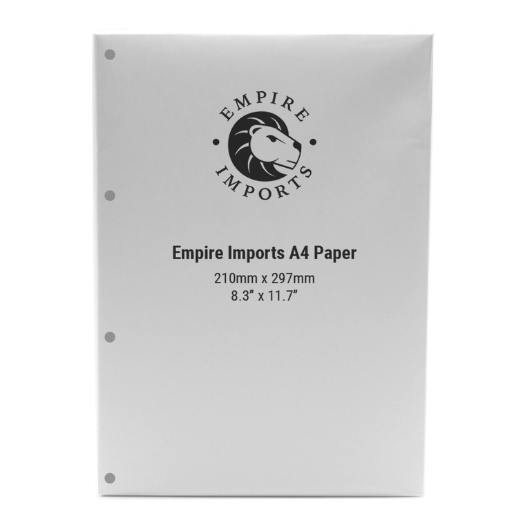 Empire Imports 20 lb. 4-Hole Punched Paper, A4 Size, 500 Sheets Per Ream