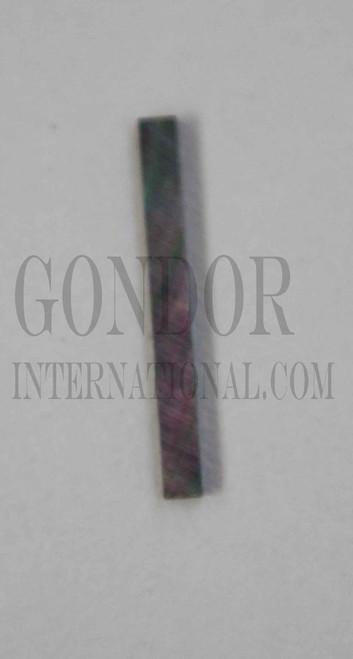 1pc Black MOP strips straight 3.17x25x1.3mm