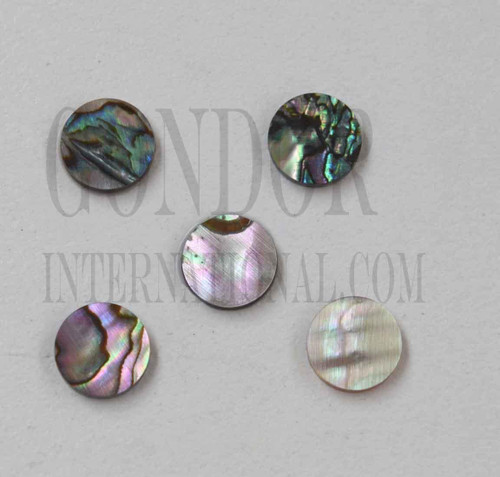 1pc Green abalone dots 8.5x1.3mm