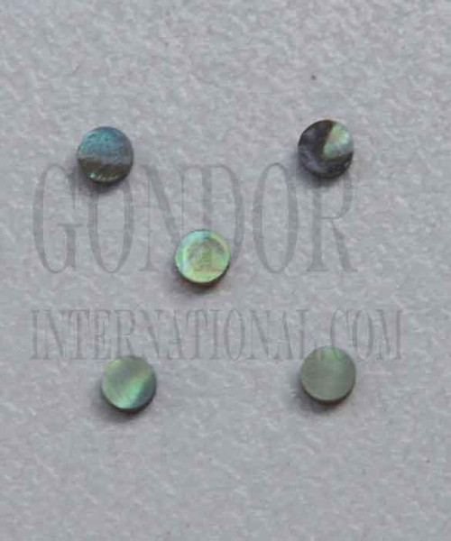 1pc Paua dots 3x1.3mm