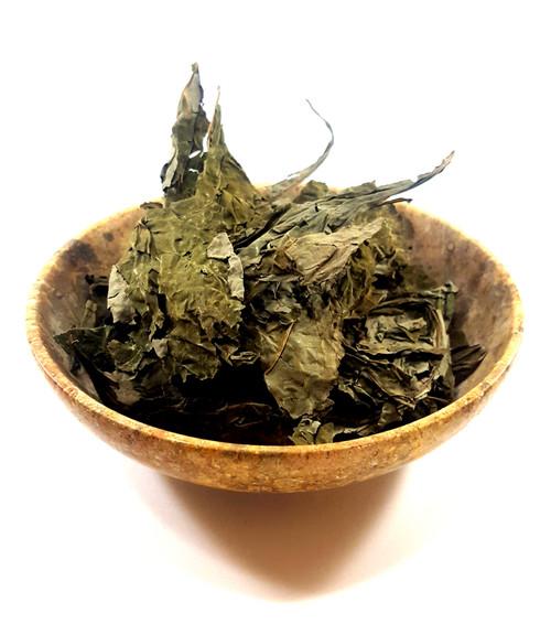 Dry salvia leaves