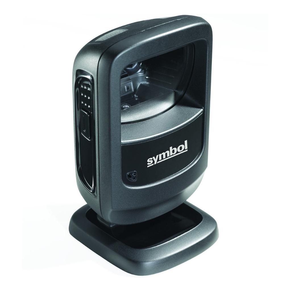 Escáner de código de barras Zebra DS9208 color negro, vista superior.
