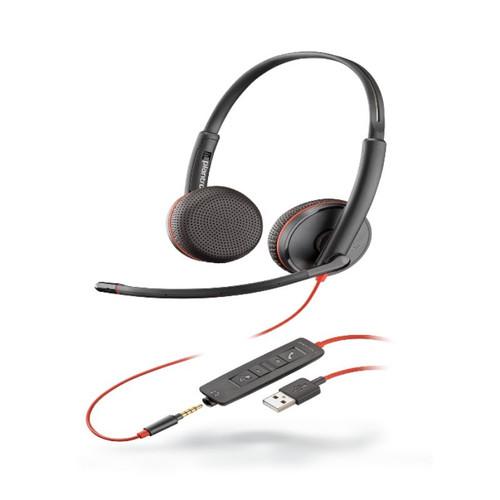 Audífonos Poly Blackwire 3200 son fáciles, cómodos, resistentes y cuentan con una gran variedad de conectividad.